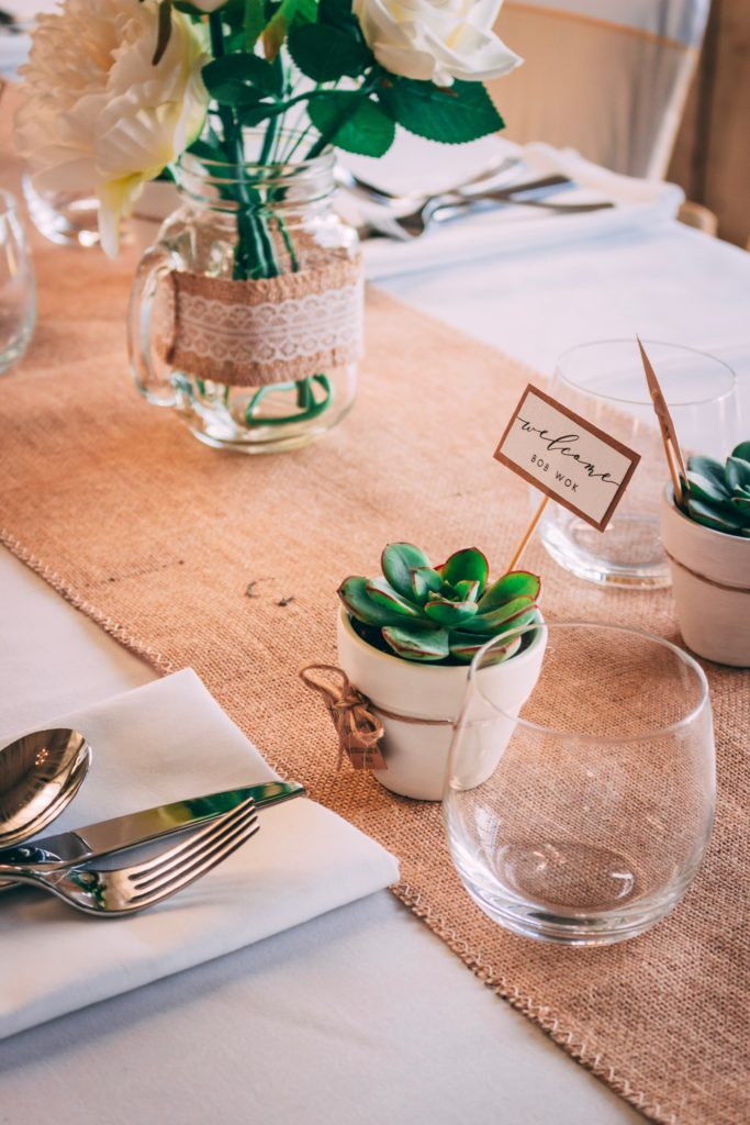 Décoration et plan de table