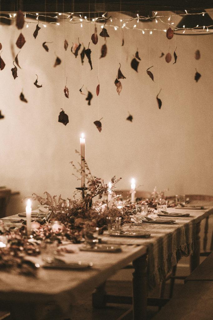 Une décoration de table chic et cosy